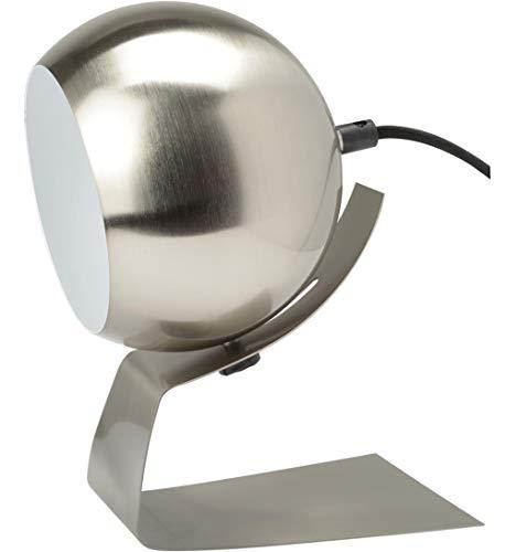 Neoly 37-1L-011 Lampe Boule orientable Olga Gris acier brossé Métal Fil gainé tissu H22,5 à 24 x 15 x 17,5 cm