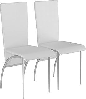 LifeStyleDesign 662016 - Pack de 2 sillas 96 x 52 x 43 cm, Piel sintética