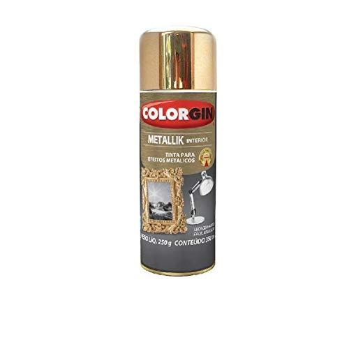 Tinta Spray Colorgin Metallik 350 ml Dourado - 057