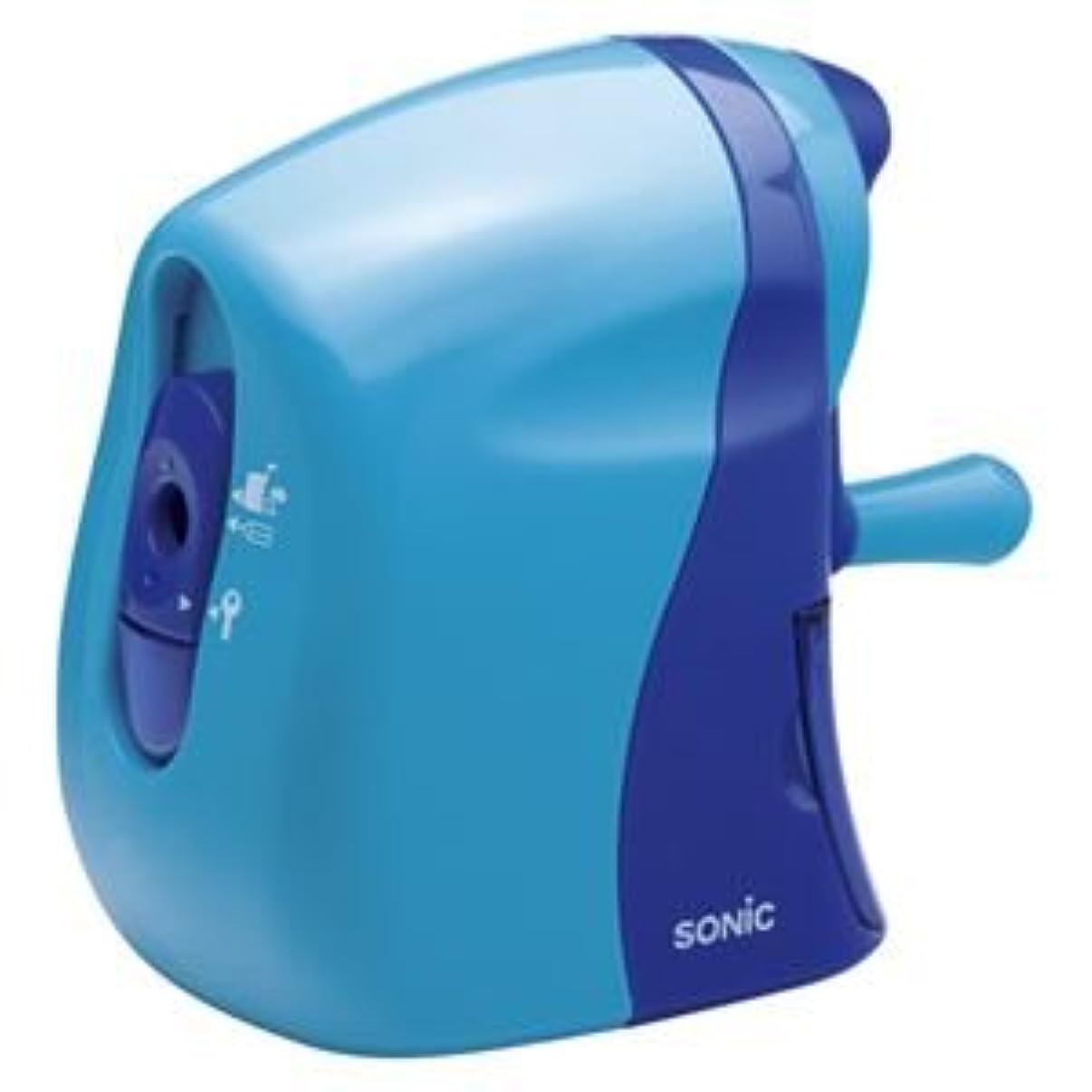 指標側面ギネス(業務用セット) ソニック かるハーフ 手動鉛筆削り SK-802-B 青 1個入 【×2セット】