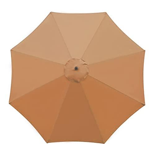 HanOBC Paraply för parasoll, parasoll, parasoll, baldakin, för 2,7 m, 8 revben, Sunbrella anti-UV, parasoll, reservdel för utomhusparasoll, (endast Canop!)