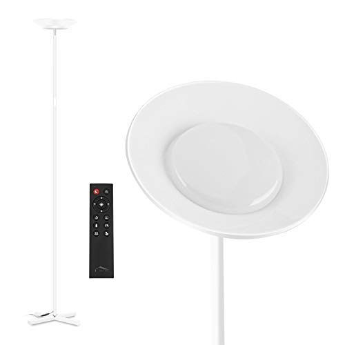 Lámpara de Pie 30W Regulable (Control táctil/Control remoto) (Blanca)
