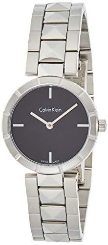 Calvin Klein Orologio Analogico Quarzo Donna con Cinturino in Acciaio Inox K5T33141