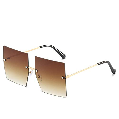 Powzz ornament Moda sin montura estilo cuadrado Tint Ocean Les gafas De sol mujeres 2019 Cool remache gafas De sol Oculos De Sol-C11_Universal