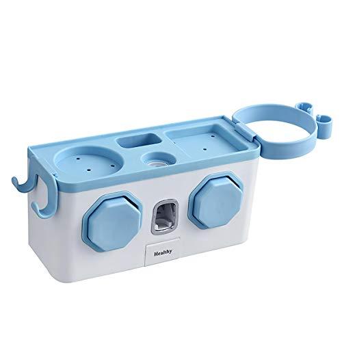 xingxing Soporte multifunción para cepillo de dientes, dispensador automático de pasta de dientes y secador de pelo (color: azul)