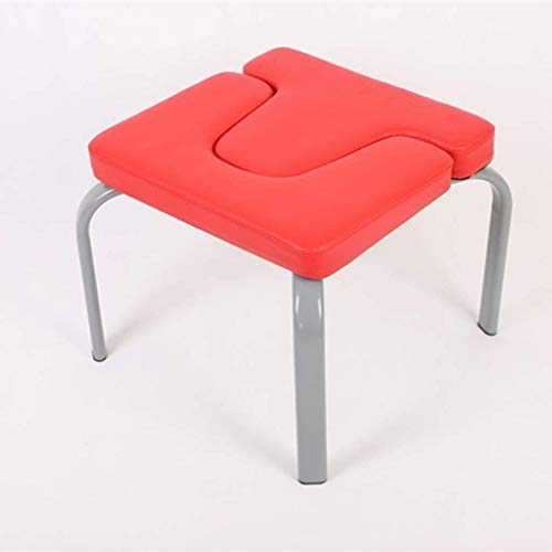 Find Discount DLJAC Yoga Headstand Chair Inversion Bench Head Fitness Kit Red Ideal Chair for Practi...