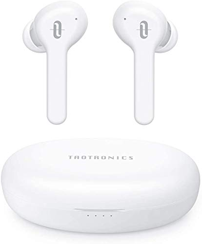 Wireless Earbuds TaoTronics Bluetooth 5.0 Headphones SoundLiberty 53 [2020 Upgrade] Bluetooth Earbuds 50H Playtime Smart Touch Control IPX8 Waterproof Single/Twin Mode Earphones with Built-in Mic