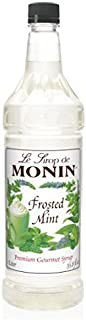 Monin Flavored Syrup, Frosted Mint, 33.8-Ounce Plastic Bottle (1 liter)