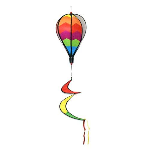 erticvtiu Globo de Aire Caliente Tira de Viento giratoria Molino de Viento Colgante al Aire Libre Parque del Color del Arco Iris Atracciones Decoración Molinillo Adornos de jardín de Infantes