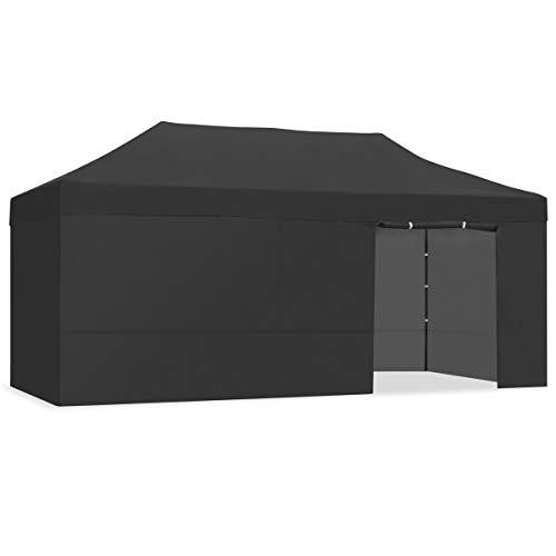 KEWAYES Faltbares Zelt / Gazebo 3x6m wasserdicht faltbar leicht schwarz Farbe