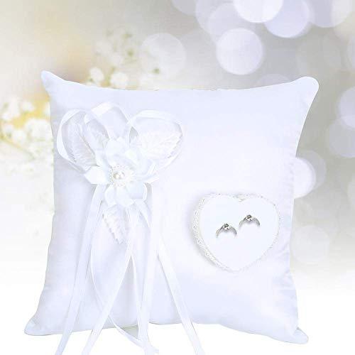 SXXYTCWL Accesorios Nupciales Decorativos de Flores Artificiales Blancos, cojín de Anillo Suave, for Sala de Estar Dormitorio casero Boda jianyou