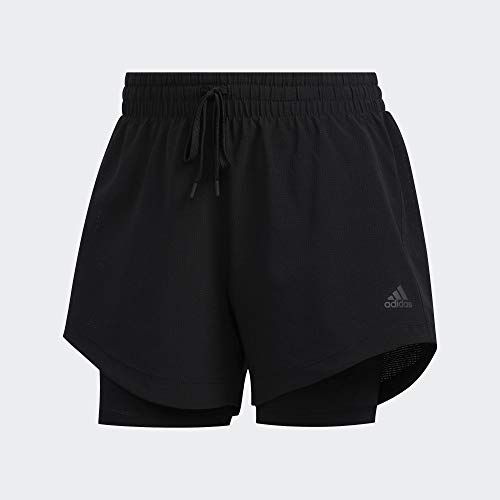 adidas Damen 2IN1 WOV Short Sport, Black, S