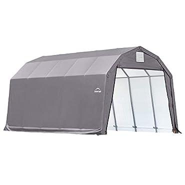 ShelterLogic 90253 Grey 12'x28'x11' Barn Shelter