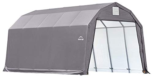 ShelterLogic 90153 Grey 12'x24'x11' Barn Shelter