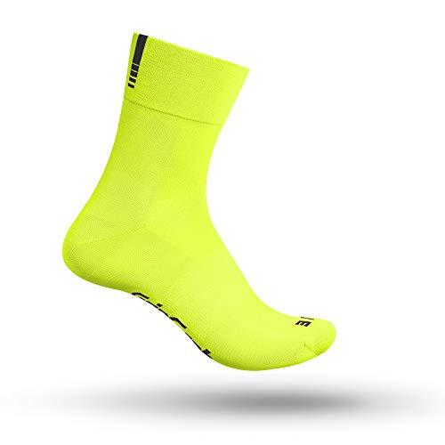 GripGrab Lightweight SL Unisex Socken, Gelb Hi-Vis - lang, M (41-44)