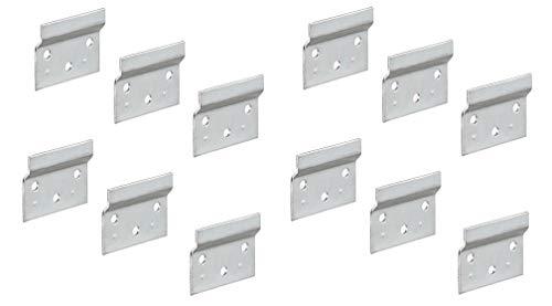 Gedotec Trägerplatte Metall Aufhängeschiene zum Schrauben für Schrankaufhänger | Länge 60 mm | Wandschiene für Schrank-Halterung | Stahl verzinkt | 12 Stück - Wand-Befestigung für Hänge-Schränke