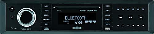 Jensen JWM92A 3-Speaker Zones Slimline Theater-Style DVD|USB|AUX|HDMI|App Ready Bluetooth Wallmount Stereo, Speaker Output 20X 8 Watt, Plays: CD/CD-R/CD-RW/DVD/DVD+R/DVD+RW/DVD-R/DVD-RW/MP3/WMA/JPEG