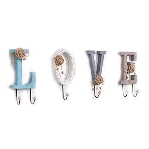LOVE/HOME Carta Ganchos para colgar en la pared, Alfanuméricos Ganchos para colgar en la pared Para Ropa Colgante de decoración de pared para la decoración del hogar