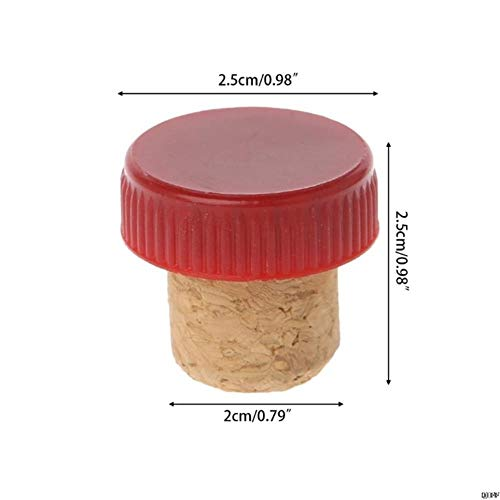 Heng T-vormige rode wijnkurk Kurkfles Plug Keuken Bar Tool Afsluitdop kurken, 5AC300623-R