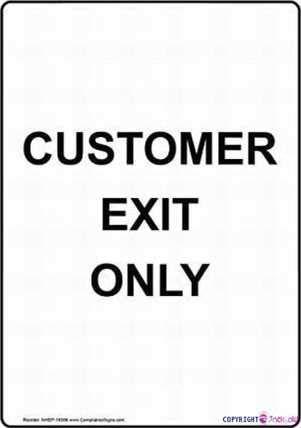 Straat teken waarschuwing plaque Tin Wall Art 8 x12 Klant Exit Alleen Nieuwe Metalen Aluminium Kantoor Tekenen Voor Outdoor & Indoor Sign