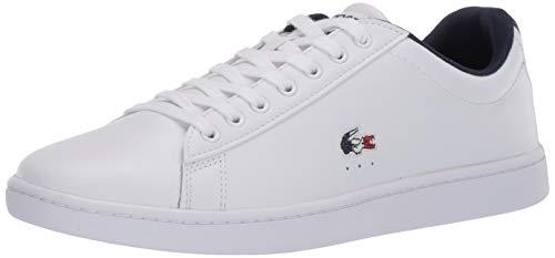 Lacoste Women's Carnaby Sneaker, White/Navy/Red, 5.5 Medium US