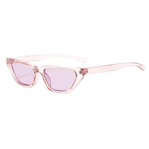 chiwanji 1 Par de Gafas de Sol de Ojo de Gato de Gran Tamaño para Mujer - Púrpura, Talla única