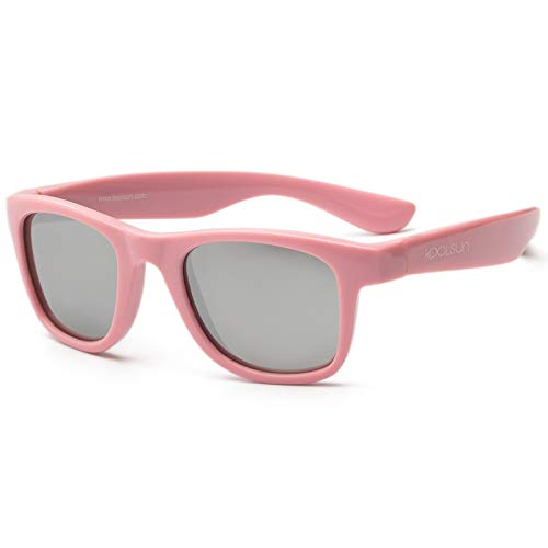 koolsun bebés y niños gafas de sol Wave Fashion 1 + | Rosa Sachet VERS piegelt | 100% protección UV | Optical Clas 1, cat. 3