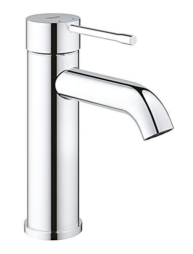 Grohe Essence - Grifo de lavabo, monomando con cuerpo liso, con limitador ecológico de temperatura, Tamaño S, (1/2') (Ref. 23590001)