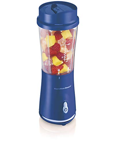Hamilton Beach Personal Smoothie Blender With 14 Oz Travel Cup And Lid, Blue 51132