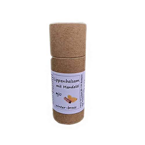 Mijo WINTER BREEZ Lippenbalsam, Naturkosmetik Lippenpflege mit Bienenwachs Sheabutter Mandelöl für trockene Lippen 14g