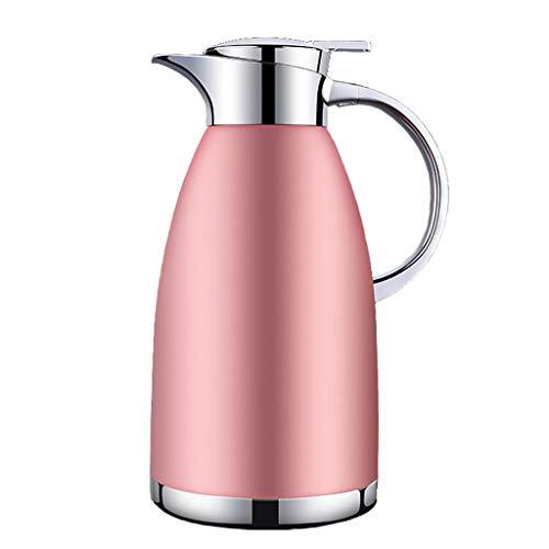 Roestvrij stalen koffiepot Dubbele muur Vacuüm Geïsoleerde Thermos Kruik Drank Dispenser Rood/Roze/Blauw/Zwart 2.3L roze