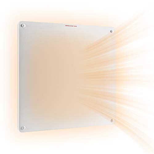 Wall Mount Panel Heater -400 Watt Convection Heater Ideal for 50-100 Sq Ft Room,Overheat Protection,for Home Bedroom kitchen Office,120V Electric Heater