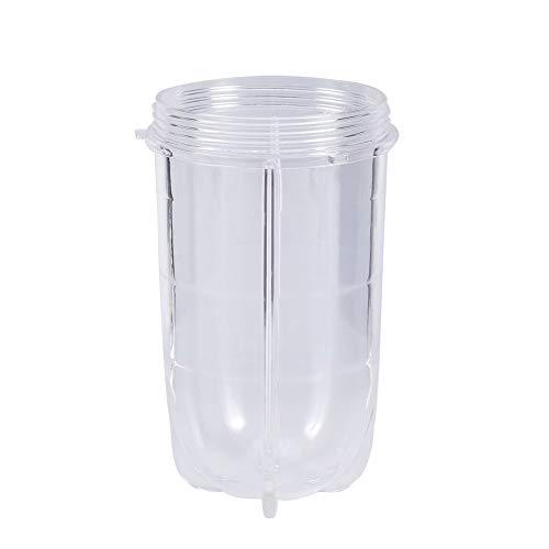 GWFVA Multifunktions-Entsafter-Maschine, Bullets Cup & Sharp Edge-Ersatzset, Kunststoff Hoch oder Kurz Transparent Cup Becher Mixer Entsafter Ersatzteile Zubehör für Saftmilchshake (Kurze Tasse)