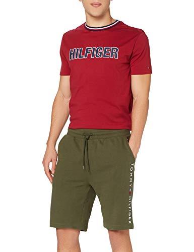 Tommy Hilfiger Track Short Rib Pantaloncini, Army Green, XL Uomo