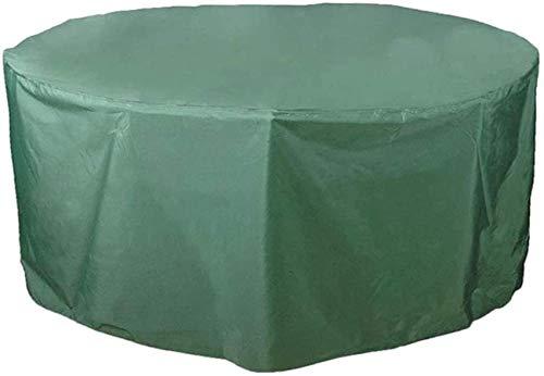Cubiertas para Muebles de jardín, Cubierta para Muebles de Patio, Cubiertas de Mesa de Patio Resistentes al Agua Redondas para Exteriores, Cubiertas de Invierno Anti-Nieve a Prueba de Viento