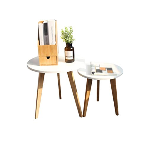 Lfixhssf Nordic Small Shop salontafel creatieve eenvoudige theetafel woonkamer sofa zijkanten ronde tafel combinatie van Movable nachtkastje Lfixhssf 40x40.6cm