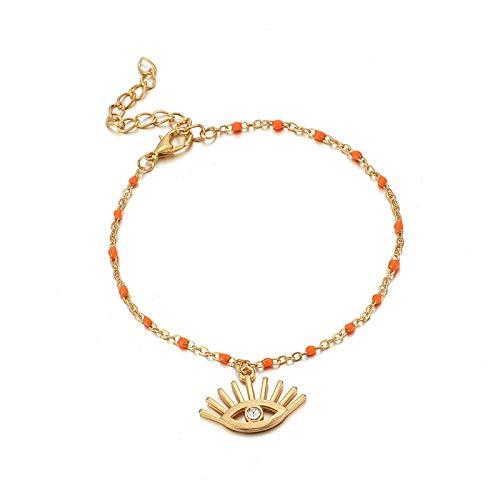 U/N 1pcs Animal Anklet Gold Cute Fish Seahorse Eye Pineapple on Foot Ankle Bracelets Women Beach