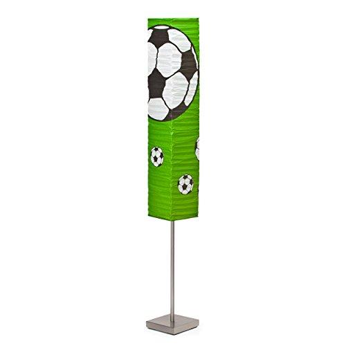 Brilliant Soccer Standleuchte mit Fußschalter, H 145cm, 2-flammig, E14, 2 x max. 40W, LED geeignet, Metall/Reispapier, 40 W, eisen/grün-schwarz-weiß