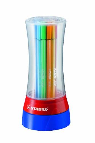 STABILO Premium-Filzstift - Pen 68 - Twister - 19er Pack - mit 19 verschiedenen Farben