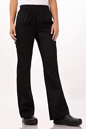 Chef Works Women's Essential Baggy Chef Pants, Black, 3X-Large