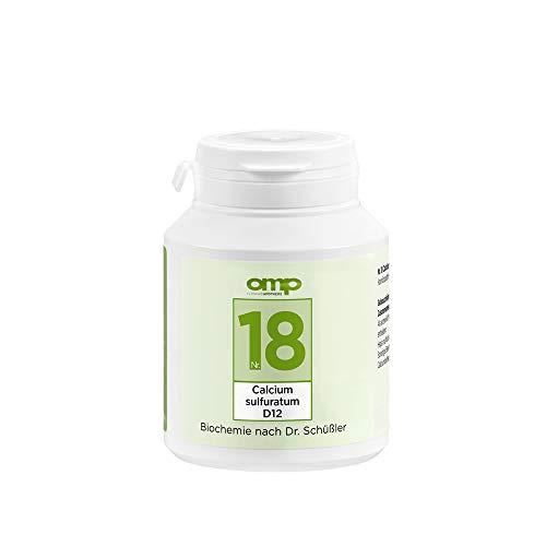 Schüssler Salz Nr. 18 Calcium sulfuratum D12 | 400 Tabletten | Das Salz für das Säure-Basen-Gleichgewicht | glutenfrei