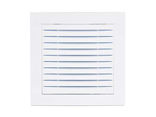 Haeusler-Shop - Rejilla de ventilación empotrable (15 x 15 cm, con filtro, 150 x 150 mm), color blanco
