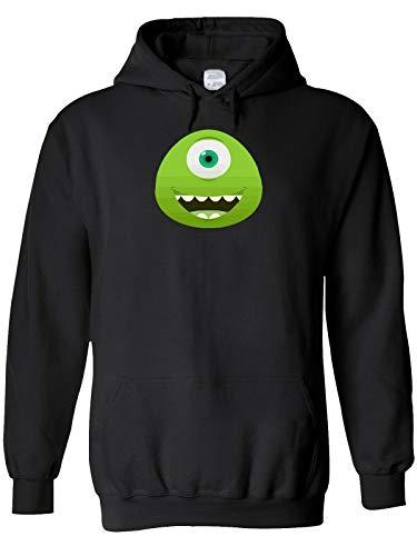 YOUE Monster Eye Maternity Surprise Men Women Unisex Top Sweatshirt Hoodie-Black,XL