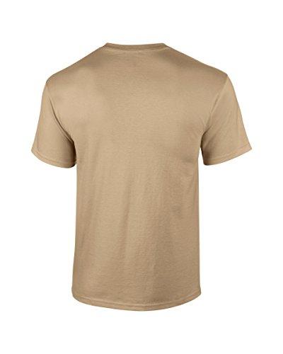 Gildan T-shirt en coton - marron - petit