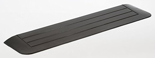 hablicare® Türschwellenrampe Schwellenrampe Gummi, für barrierefreies Wohnen, Rampe für Türschwellen, 3 abgeschrägte Seiten, Anti-Rutsch Oberfläche, für Innen- und Aussenbereich (1,5 x 12 x 90 cm)