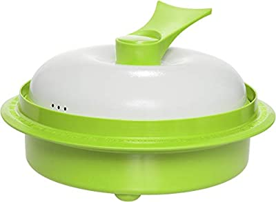 """Range Mate Pro Deluxe Nonstick Microwave 5-in-1 Grill Pot/Pan Cookware Set""""As Seen On TV"""" (Grill, Bake, Roast, Saute, Steam, Poach, One Pot Meals) (green)"""