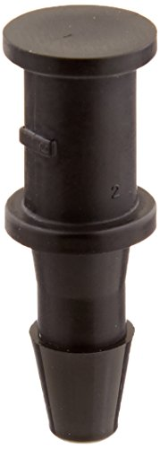 Pack of 10 1-11 1//2 NPT Thread to 1 Barb Eldon James L16-16BN Black Nylon Threaded Elbow