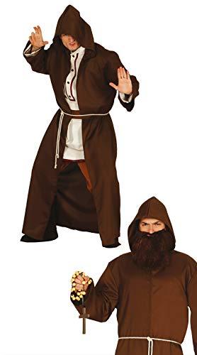 FIESTAS GUIRCA Disfraz Hombre fraile Monje Maestro Espiritual Talla l