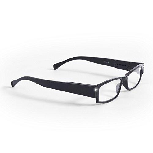 Lensspirit Caremaxx leesbril met LED-verlichting SPH: plus 2,50 Kleur: zwart, 1 stuks (1 x 1 stuks)