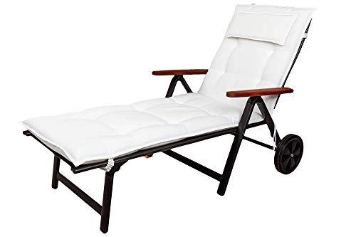 Kettler Polen KETTtex 8194 Auflage Rollliegen Marbella weiß Sitzpolster 190x60x7,5 cm (ohne Liege)